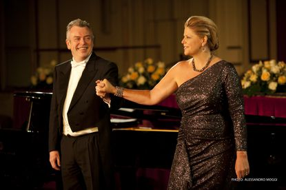 Malcolm Martineau and Susan Graham after a 2012 recital.