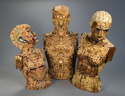 "Allen Christian created ""Piano Family: Adagio, Amorosa, Bucky,"" in 2012 from spare piano parts. It appears at the American Visionary Art Museum as part of ""Human, Soul & Machine: The Coming Singularity!"" through Aug. 31."