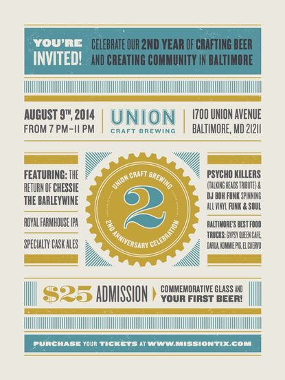 Union Brewing To Celebrate Two-Year Anniversary