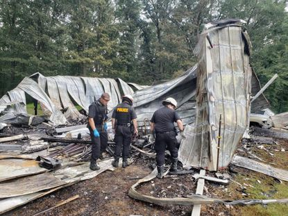 A barn on a property in the 1000 block of Falling Branch Road in Pylesville suffered major damage from a fire late Tuesday morning.