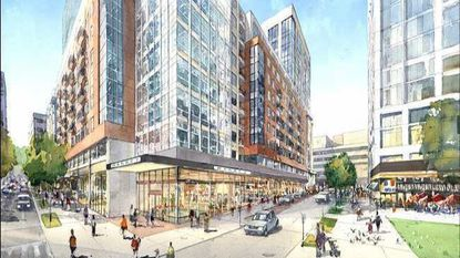 Rendering of the Towson Row development planned for York Road.