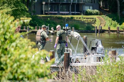 Maryland Department of Natural Resources Police recovered a body along Weems Creek in Annapolis.