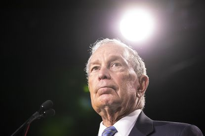 Democratic presidential candidate former New York City Mayor Mike Bloomberg delivers remarks during a campaign rally in this file photo.