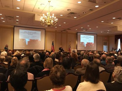A crowd of environment advocates gathered for their annual summit in Annapolis.