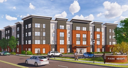 A development team presented plans for a transit-accessible apartment building in Park Heights Thursday, complete with 163 units and parking availability.