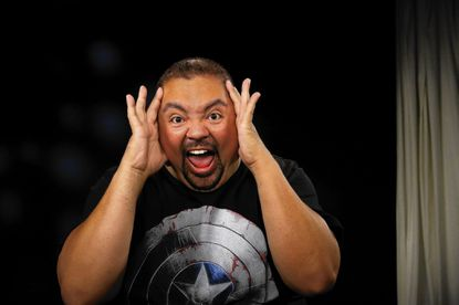 """In this Tuesday, July 15, 2014 photo, actor, Gabriel J. Iglecias, known professionally as Gabriel """"Fluffy"""" Iglesias, poses for a photo in Los Angeles. Iglesias' new comedy, """"The Fluffy Movie,"""" opens on July 25, 2014. (AP Photo/Nick Ut) ** Usable by LA, DC, CGT and CCT Only **"""