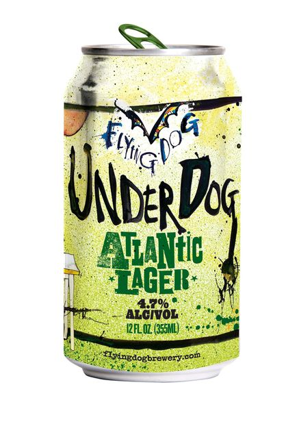 The new Flying Dog canned beer, Underdog Atlantic