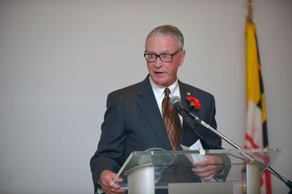 Baltimore Blast owner Ed Hale, recipient of the John F. Steadman Lifetime Achievement Award, was one of the 2015 Maryland State Athletic Hall of Fame inductees at Michael's Eighth Avenue on Nov. 12, 2015.