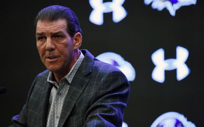Ravens owner Steve Bisciotti, shown in this 2018 file photo, was ranked 150th on the Forbes 400 list of richest Americans. Bisciotti founded the Allegis Group staffing firm with cousin Jim Davis, who ranked 287th.