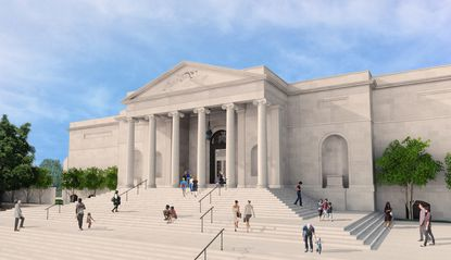 Architectural rendering of BMA's original entrance, due to be reopened in fall 2014