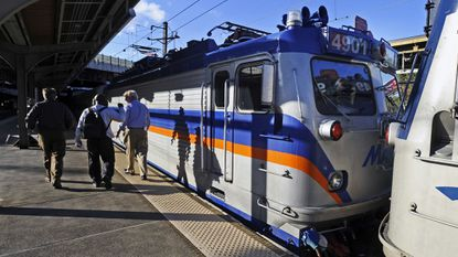 City Council members could save taxpayers thousands of dollars by commuting to a conference in D.C. by a MARC train like this one pictured at Baltimore's Penn Station instead of staying overnight in pricey hotels. File.