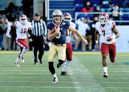 Quarterback Zach Abey and the Navy football team will open the season on Sept. 2 at Florida Atlantic and first-year head coach Lane Kiffin.