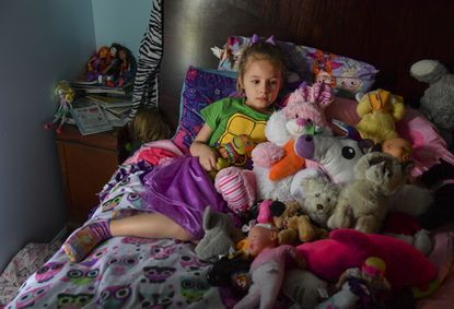 Ava Olsen was on the playground with other first-graders during a 2016 school shooting in Townville, S.C., that took the life of Jacob Hall, 6. She is now home-schooled because of her post-traumatic stress disorder.