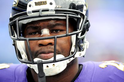 Ravens running back Justin Forsett warms up before the team's Nov. 30 game against San Diego at M&T Bank Stadium.