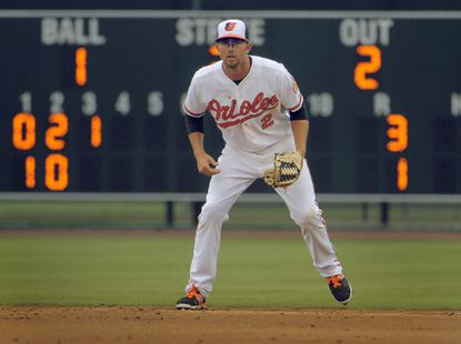 Orioles shortstop J.J. Hardy during a Grapefruit League game at Ed Smith Stadium.