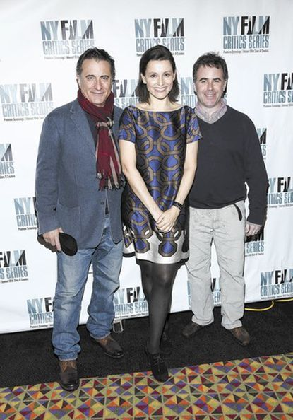 """""""At Middleton"""" director Adam Rodgers (far right) with actor Andy Garcia (far left) and Alison Bailes at an """"At Middleton"""" screening."""