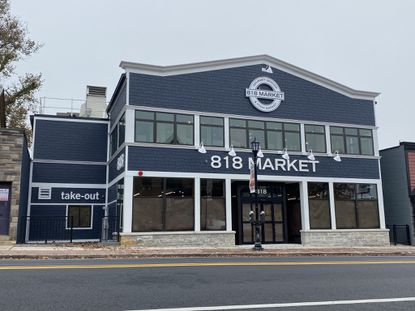 Construction on 818 Market, a gourmet grocery store and restaurant, is nearly complete after shovels first hit the dirt more than a year ago. The owners, Patrick Baldwin and Dan Zakai, both Catonsville residents, are eyeing an opening date of Nov. 16.