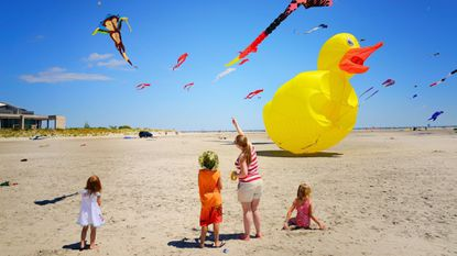 The free three-day International Kite Festival culminates with the World Indoor Kite Competition inside the Wildwoods Convention Center.