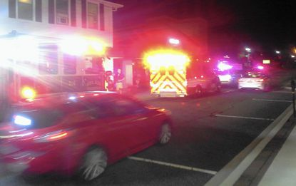 Police and emergency vehicles responded to two calls for 'adverse reactions' to suspected heroin in downtown Bel Air Wednesday night.