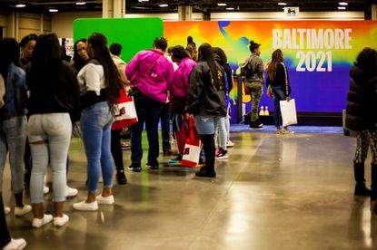 Baltimore officials engage fans at 2020 CIAA Tournament Fan Fest in Charlotte, N.C. The 2021 CIAA Basketball Tournament is going virtual next month.