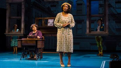 "Michele Shay, seated, as Alice Manford, and Shanesia Davis as Violet in ""Jazz"" at Baltimore Center Stage."