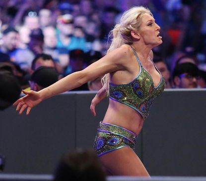 Charlotte Flair, shown during WrestleMania 33 in 2017, was part of the main event at TLC.