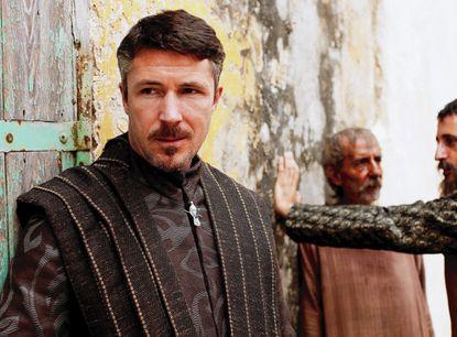 "Aiden Gillen as Littlefinger on HBO's ""Game of Thrones."""
