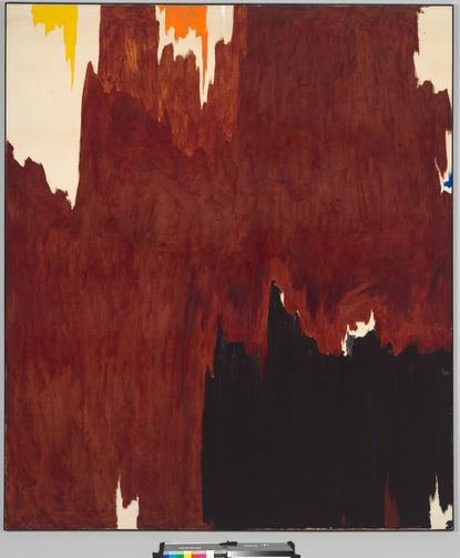 """""""1957-G"""" by Clyfford Still is one of 3 paintings being sold by the Baltimore Museum of Art."""