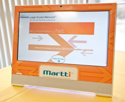 The Martti video interpreter machine will help non-English speaking residents communiate better with doctors and hospitals.