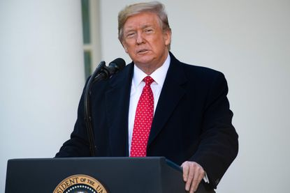 President Donald Trump speaks prior to pardoning the National Thanksgiving Turkey during a ceremony in the Rose Garden of the White House in Washington, D.C. Mr. Trump's attorney said on December 1, that the White House will not participate in Congressional hearings set to begin this week that will consider passing impeachment articles against the president.