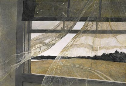 "Andrew Wyeth ""Wind from the Sea,"" 1947 tempera on hardboard."