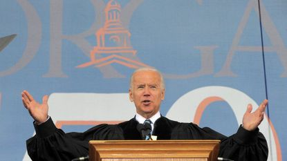 Former Vice President Joe Biden at the commencement at Morgan State University in May 2017.