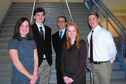 Six Harford students serving pages during session in Annapolis