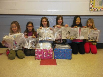 West Friendship Brownie Troop 2484members who completed their Brownie Quest project are, from left, Kasey Hawk, Sofia DeLisa-Hughes, Paige McDonald, Gracie Hargrove, Lisa Yan and Jaclyn Yencha .