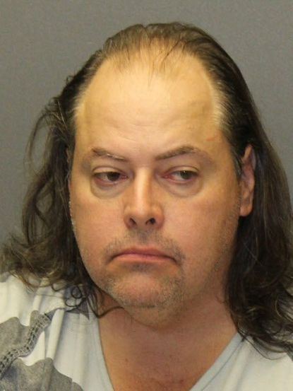 Steve Michael Droter, 45, of Abingdon has been charged with a threat of mass violence after he insinuated to police Tuesday, Sept. 24, 2019, that he had explosives in his vehicle at Prince of Peace Church in Edgewood. - Original Credit: