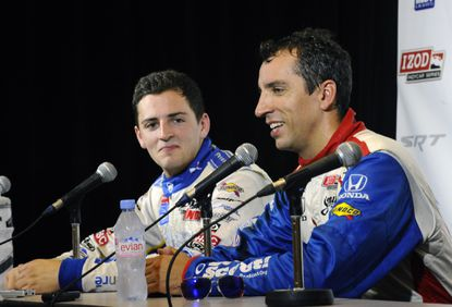 Stefan Wilson, left, and Justin Wilson will become the first IndyCar drivers to race each other as teammates at Sunday's Grand Prix of Baltimore.