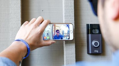 Get the gift of home security while the Ring Video Doorbell is on sale.
