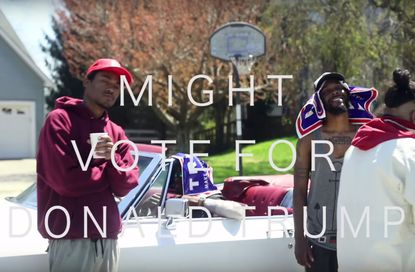 JPEGMAFIA and Freaky mock The Donald, terrorize Bel Air, and troll American politics in the video for 'I Might Vote 4 Donald Trump'