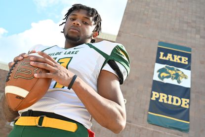 Wilde Lake senior defensive back Ramal West poses for a photo on Friday, May 14, 2021, after being named the Howard County Football Defensive Player of the Year.