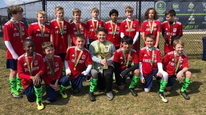 The Freedom Soccer Club 2006 Predators swept three games in the chilly outdoors to win this year's Central Maryland Soccer League under-13 Emerald Cup championship.