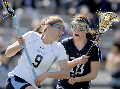 """""""Coach [Janine] Tucker has always told me since my freshman year I¿m bigger, faster, stronger than anyone that I¿ll come up against,"""" Johns Hopkins midfielder Sarah Taylor said, """"and I think this year has been finally the year where I¿ve started believing and taking that mindset into games, going to goal and wanting to do my part and play the best I can for the team."""""""