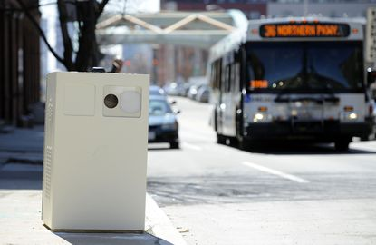 Speed camera on Guilford Avenue near Federal Street