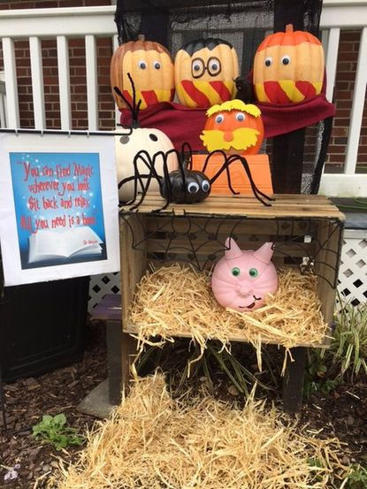 "Taneytown residents are invited to create displays for ""Pumpkin People"" in the days before Halloween. The display pictured is from 2018."