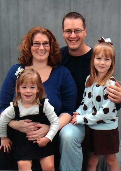 The Pennel Family, Leslie, Kelton, Addisyn and Kyra, will lead the March of Dimes March for Babies walk Sunday.