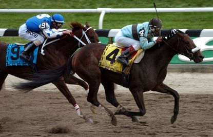 Birdstone edged Smarty Jones in one of the more memorable Triple Crown near misses in 2004.