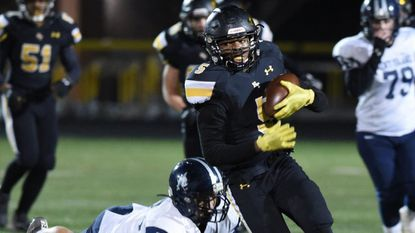 Jalen Dangerfield and his Harford Tech teammates came from behind Friday night to beat Kent Island for the school's first-ever region football championship.