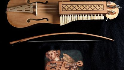 "A viola a chiavi or keyed fiddle instrument builder Ken Koons adapted from a 1408 painting. On June 20 at the Carroll Arts Center, the exhibit ""The Art of the Musical Instrument"" opens in the Tevis Gallery, guest curated by Ryan A. Koons."