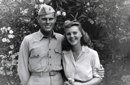 The author's parents, Kimber Evans and Margaret Copeland Vought, photographed around 1943.