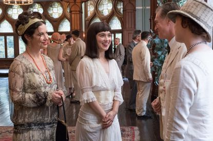 """Victoria Hill, left, and Haley Lu Richardson in """"The Chaperone,"""" a fictionalized period drama about an episode in the life of soon-to-be screen star Louise Brooks (Richardson), as she starts a new life in New York City."""