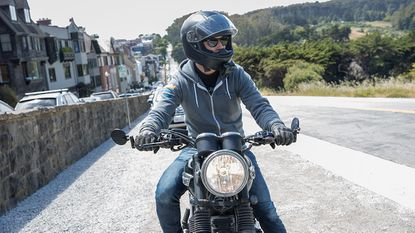 You should always wear some kind of protective glove while motorcycling. On and off-road accidents might otherwise result in serious or even permanent hand injury.